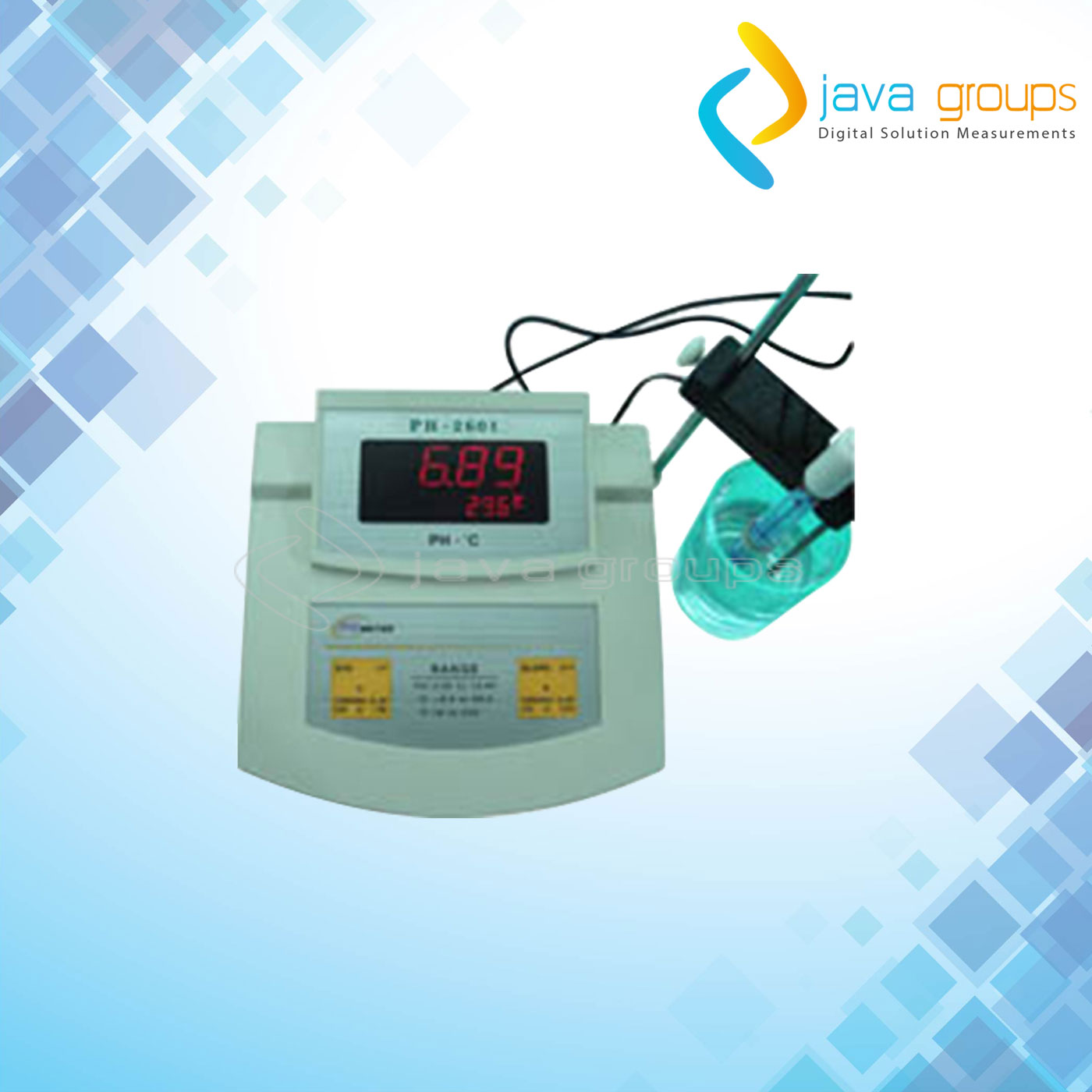 Alat Bench pH/Temp Meter Portabel Seri KL-2601