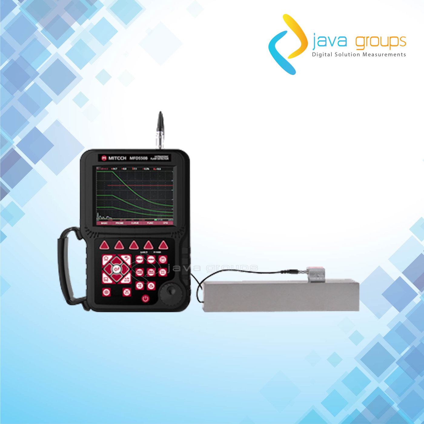 Alat Pendeteksi Kecacatan Ultrasonic Mitech MFD550B