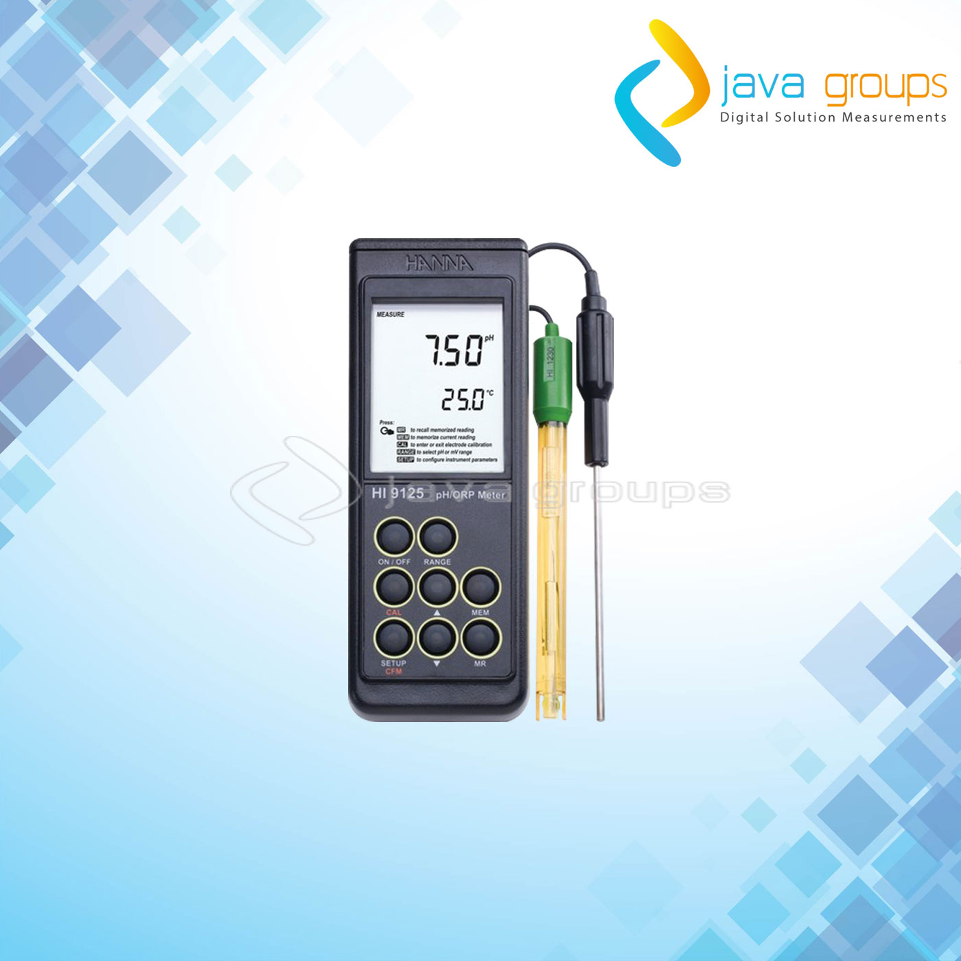 Alat Pengukur pH - mV Tester Digital HI9125